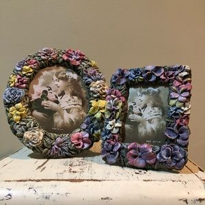 Pair of Floral Picture Frames